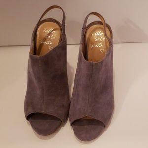 Banana Republic gray suede peep toe slingback sz 7